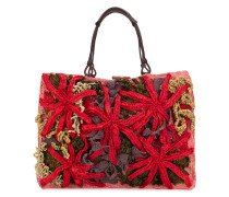 knitted shopper tote