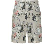 Shorts mit Fische-Print
