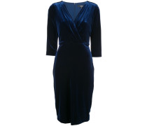 pleated drape column dress
