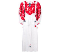 embroided floral folk dress