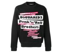 Sweatshirt mit Punk-Print