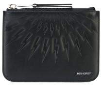 lightning embossed zip wallet