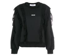 Sweatshirt mit Spitzenborte
