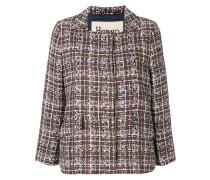 Cropped-Tweed-Jacke mit Knopfleiste