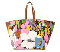 floral print large tote bag