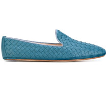 Loafer mit gewebten Akzenten
