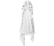 polk-dot print halterneck dress