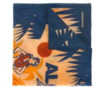Hawaiian print scarf