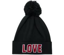 """Bommelmütze mit """"Love""""-Schriftzug"""