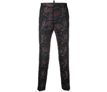 Tailored brocade trousers
