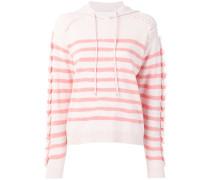 fringed striped hoodie