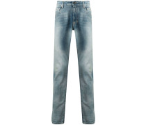 Gerade Jeans mit Stone-Wash-Effekt
