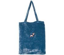 Bestickte Seidensamt-Handtasche