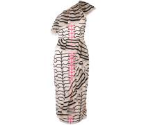 Verziertes Kleid mit Zebra-Print