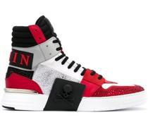 High-Top-Sneakers mit Kontrastdetails