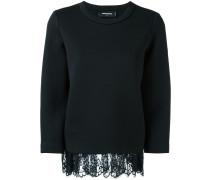 Pullover mit Spitzenbesatz