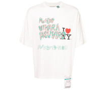 T-Shirt mit Schalsaum