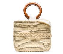 Geflochtene 'Calado' Handtasche