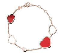 18kt 'Happy Hearts' Rotgoldarmband