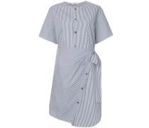 asymmetric striped wrap dress