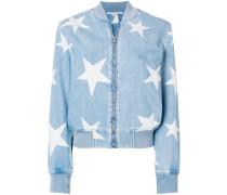 Jeans-Bomberjacke mit Sterne-Print