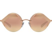 Sonnenbrille mit Schlange-Print
