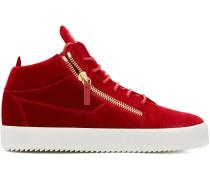Kriss Velvet hi-top sneakers