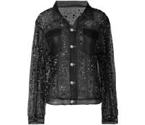 sheer organza jacket