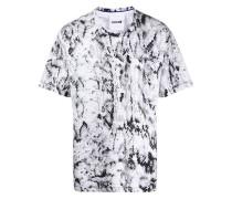 T-Shirt mit Pythonleder-Print