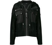 hooded net jacket