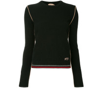 contrast trim knitted jumper