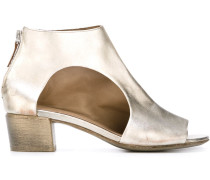 Knöchelhohe Metallic-Sandalen