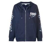 Cheongsam Flower zipped hoodie