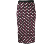 patterned knit pencil skirt