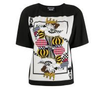 T-Shirt mit Spielkarten-Patch