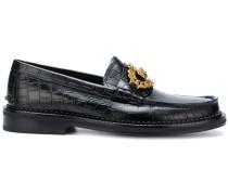Loafer mit Krokodilleder-Effekt