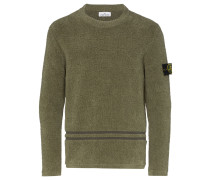 Chenille-Pullover mit Logo-Patch