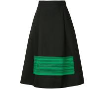 brushstroke-print midi skirt