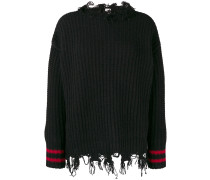 frayed trim jumper