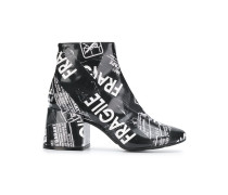 Fragile tape ankle boots