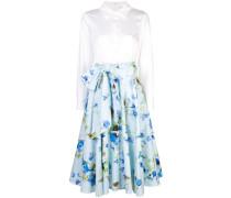 floral ruffled midi skirt