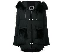 fur hooded puffer jacket