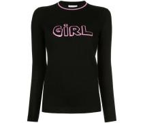 'Girl' Intarsien-Pullover