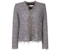 Tweed-Jacke mit ausgefransten Kanten