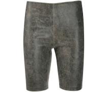 Leder-Shorts in Knitteroptik