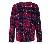 abstract checked sweater