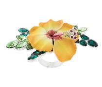 crystal-embellished flower ring