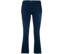 Cropped-Jeans mit seitlichen Knöpfen