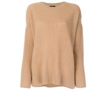 Kaschmir-Pullover mit tiefen Schultern