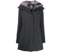 'SMEG9' Mantel mit Faux-Fur-Futter